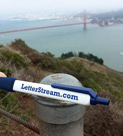 LetterStream Pen at the Golden Gate Bridge