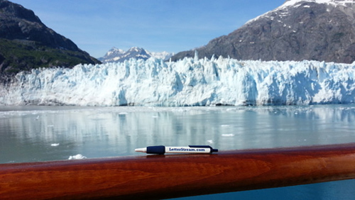 LetterStream Pen at Glacier Bay, Alaska